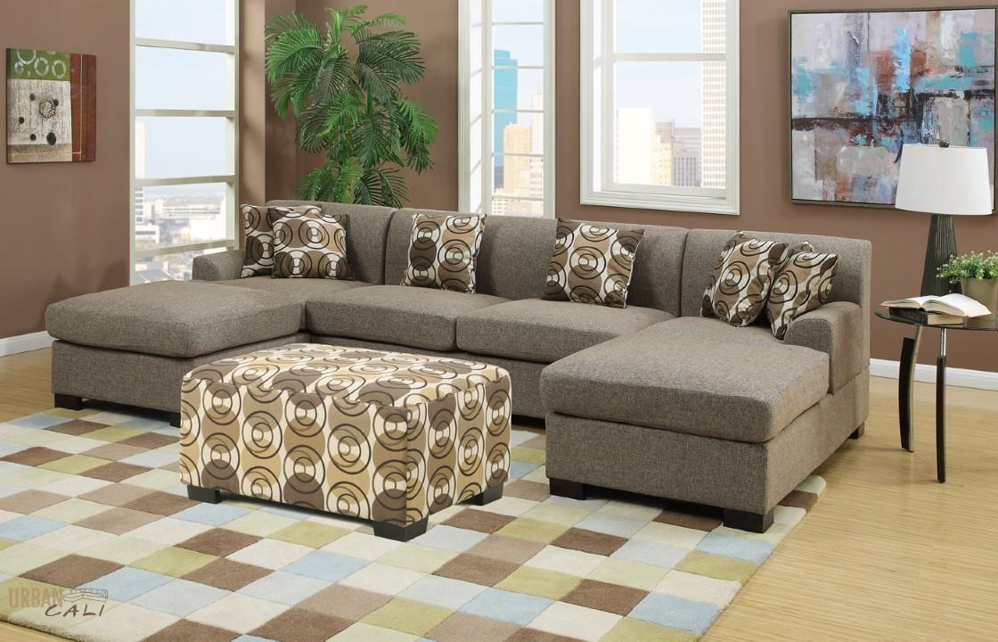 Hayward Sandstone Small U Shaped Sectional Sofa Set By Urban Cali