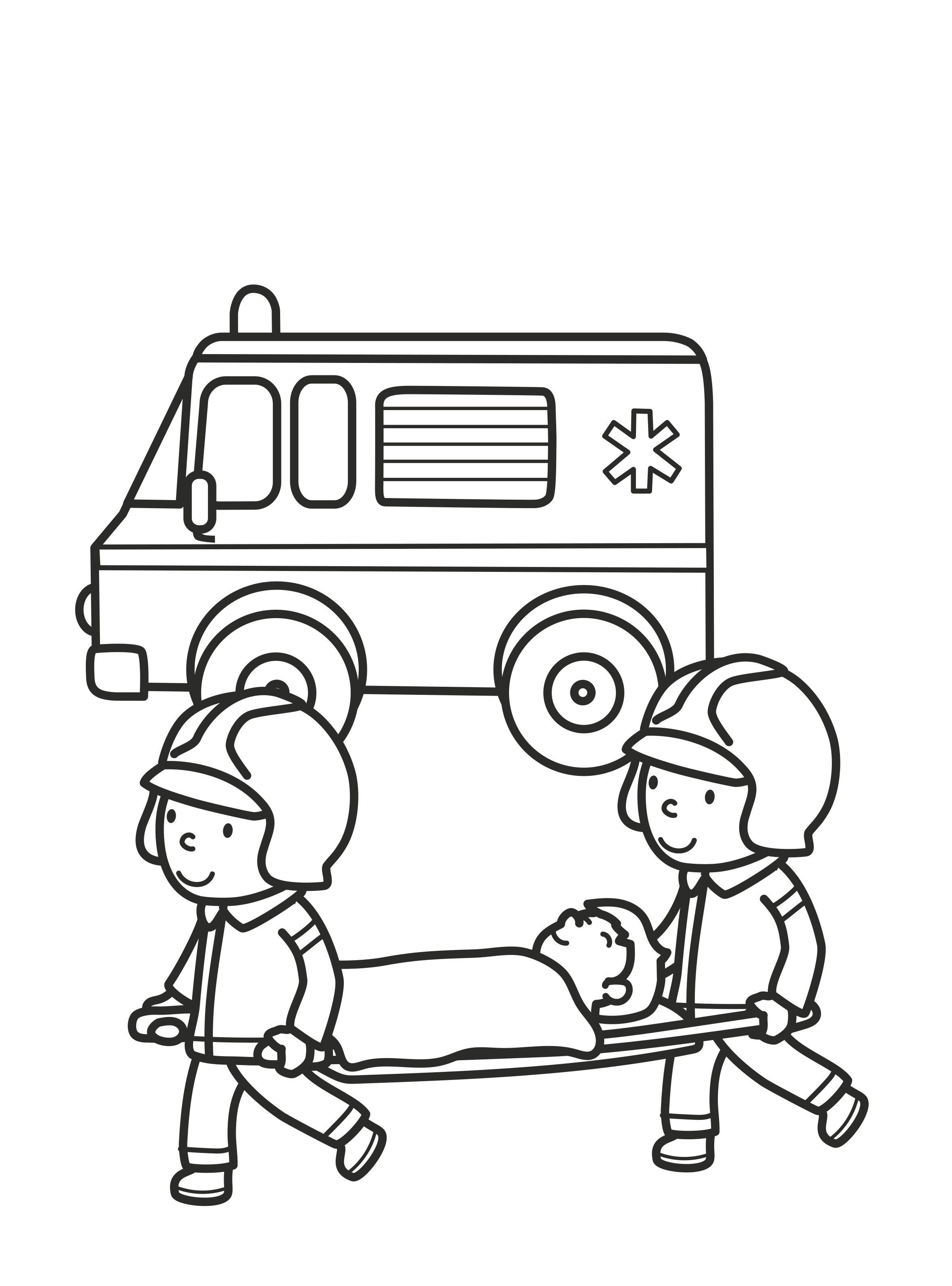 Kleurplaat Ambulance Kleurplaten Knutselen Kleurboek