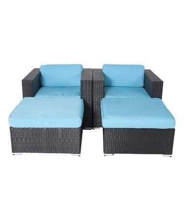 Another great find on #zulily! Turquoise Shay Four-Piece Chair Set #zulilyfinds