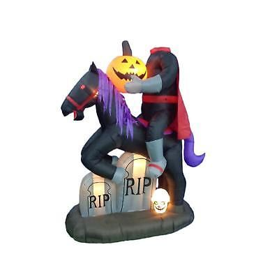 Inflatable Halloween Decoration Headless Horse With Pumpkin And - inflatable halloween decoration
