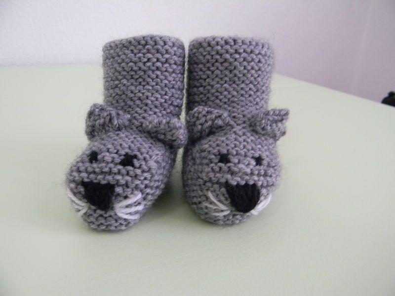 comment tricoter des chaussons de bebe facile | baby chaussons ...