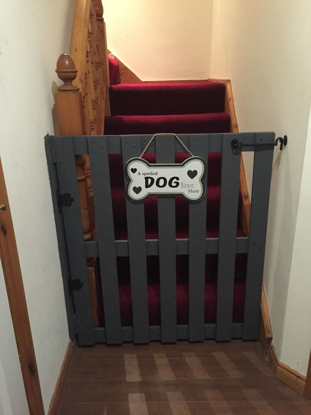 Hand Made Stair Gate From A Wooden Pallet... A Childu0027s Safety Gate Was Too  Low U0026 The Dogs Jumped It! Not This One Tho. : )