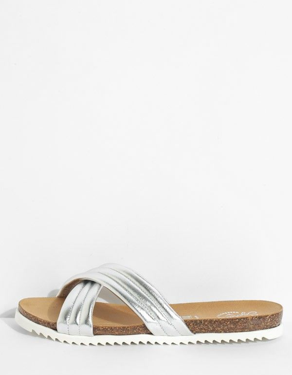 Dusk Sandal in Silver from Seychelles