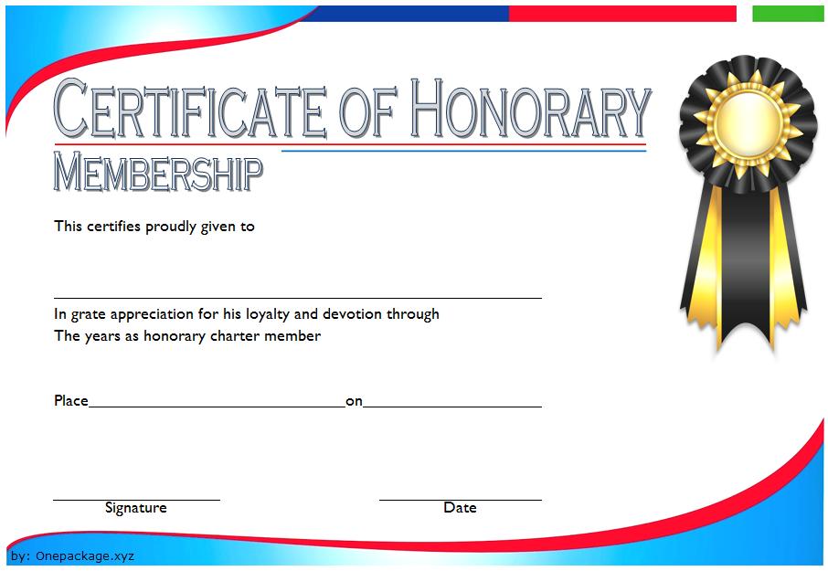 Free Honorary Life Membership Certificate Template 3 Certificate Templates Templates Template Free