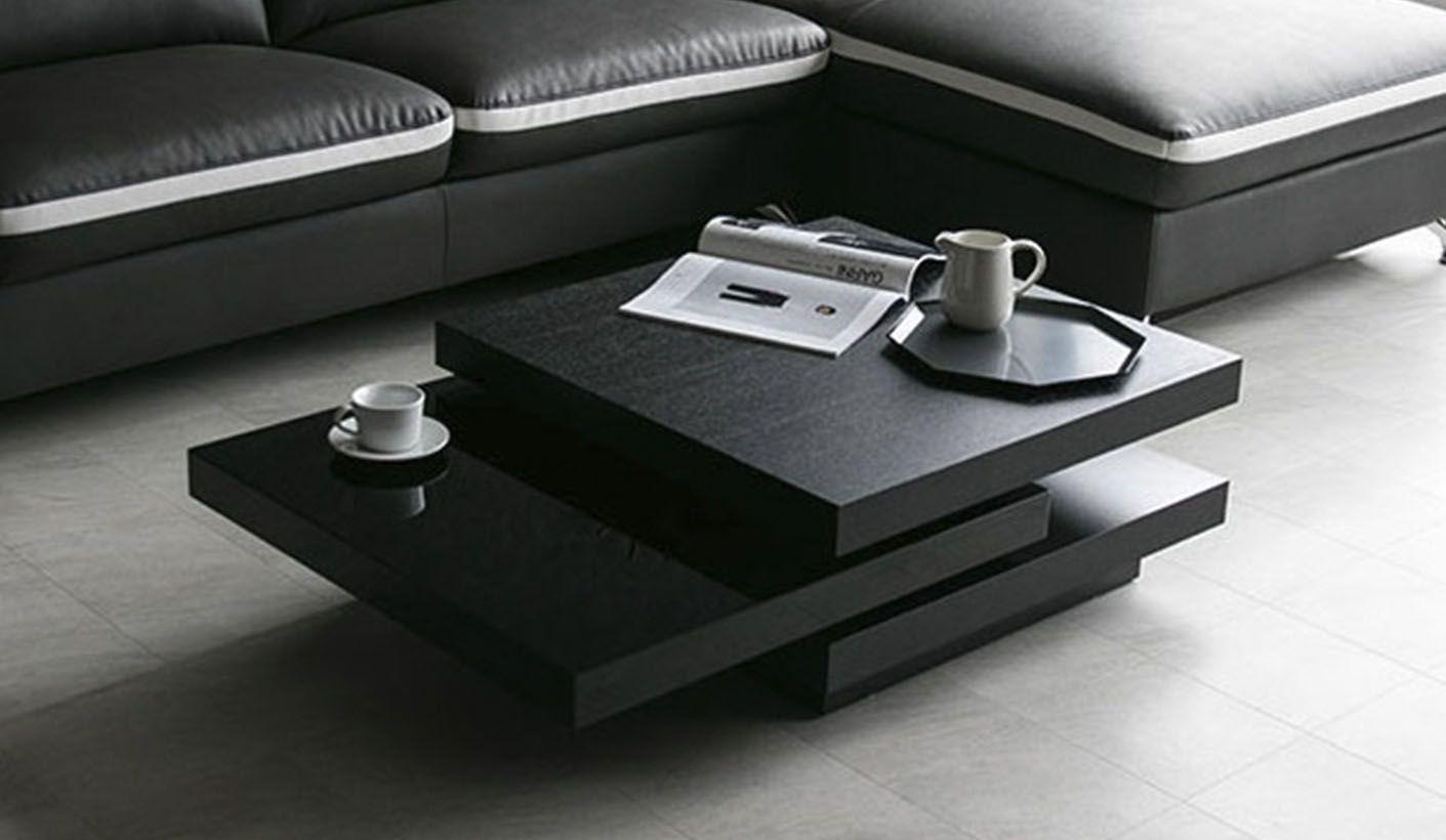 Fondi Black Oak Swivel Coffee Table Sleek Modern And Funcional Coffee Table Sleek Coffee Table Solid Coffee Table [ 820 x 1411 Pixel ]