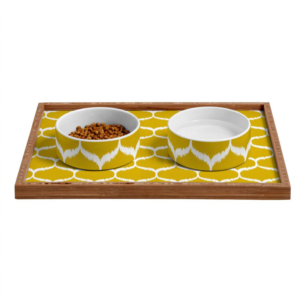 Andrea Victoria Secret Garden Pattern Pet Bowl and Tray | DENY Designs Home Accessories