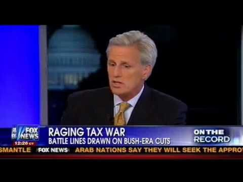 McCarthy: Obama Tax Hikes Hit Small Businesses, Jobs