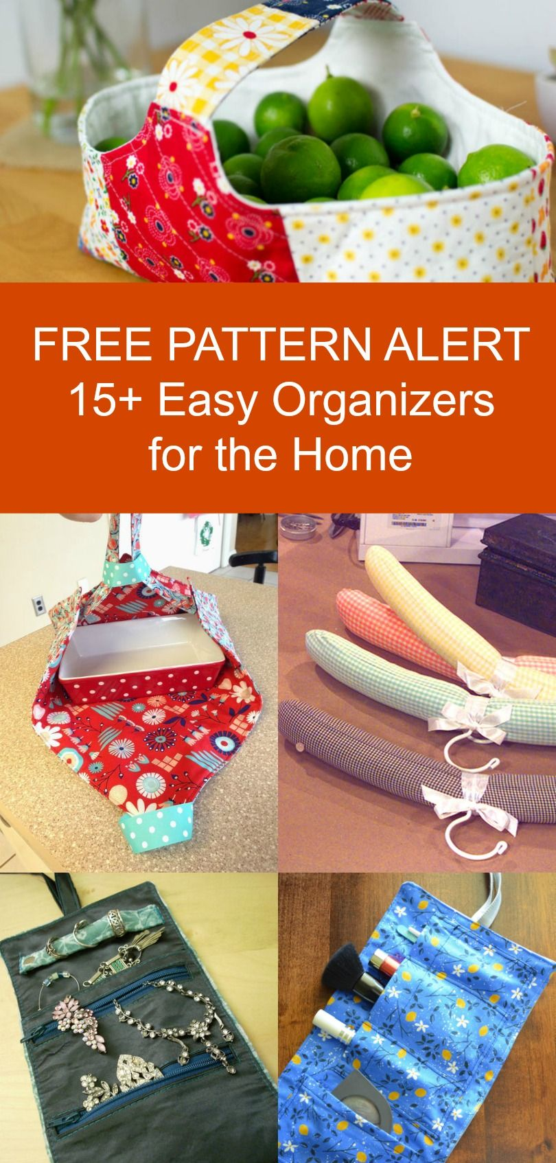 FREE PATTERN ALERT: 15+ Organizers for the home