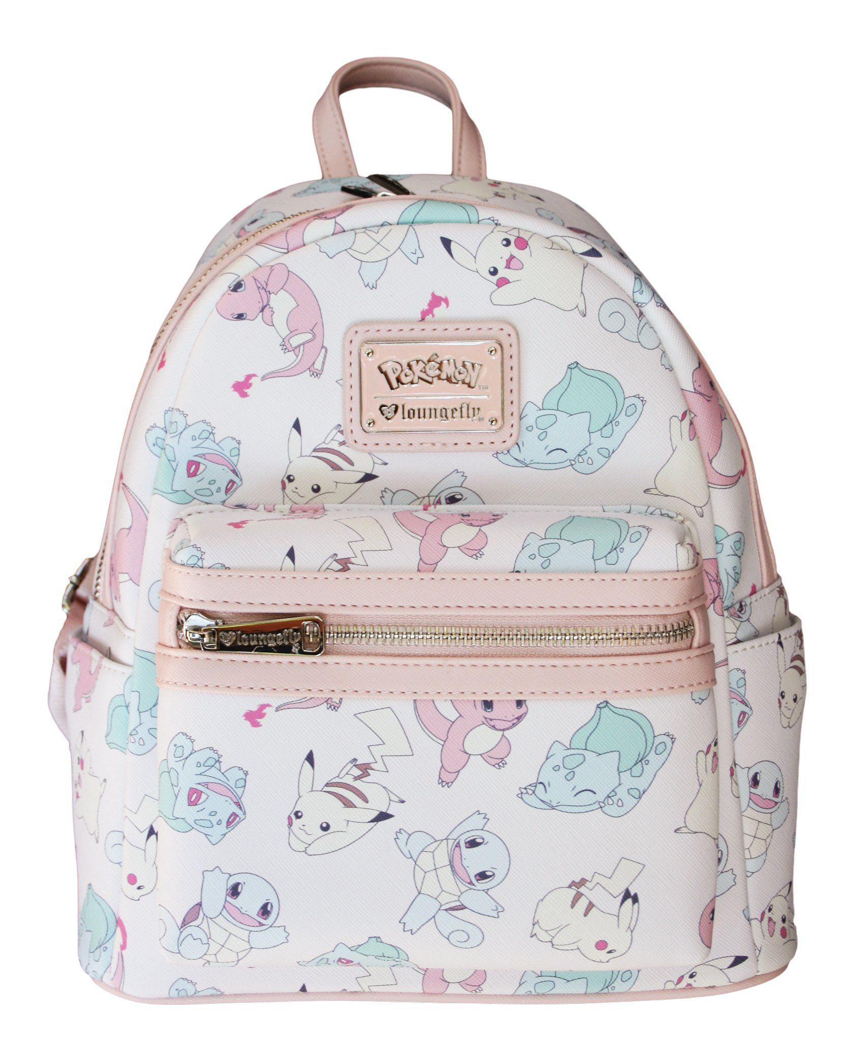 Loungefly Pastel Pink Pokemon Starters Pikachu Fashion Backpack Purse e279880ea1dfe