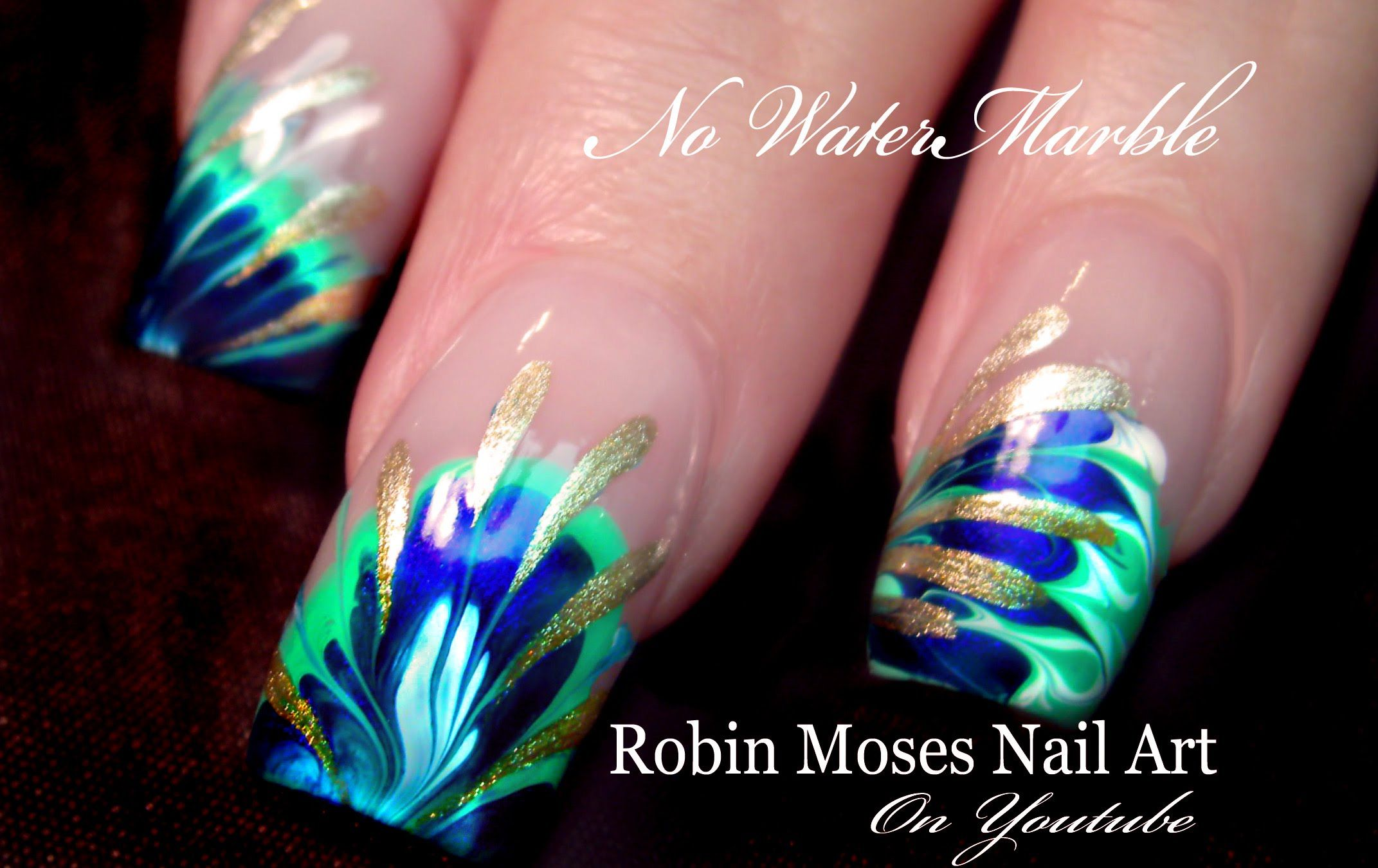 No Water Needed - 3 DIFFERENT #Marble #nails art #Tutorial ...