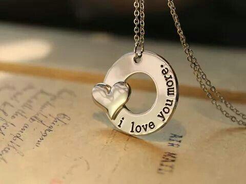 I love you more pendant
