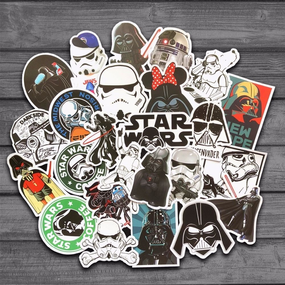 Share If You Want This 25 Kinds Star War Waterproof Fuel Cap Creative Sticker For Skateboard On Notebook Laptop L Star Wars Stickers Star Wars Sticker Wall Art [ 1000 x 1000 Pixel ]