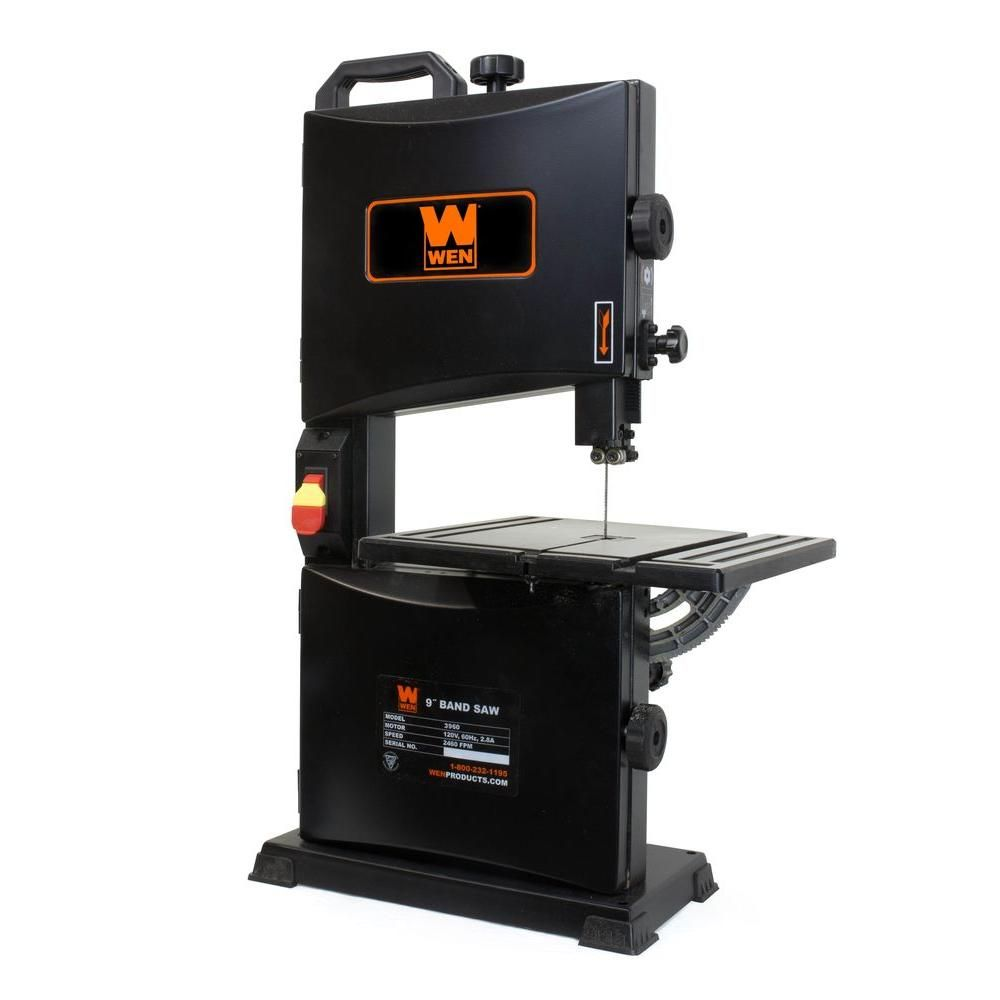 WEN 9 in. 2.8 Amp Benchtop Band Saw | Blade and Products