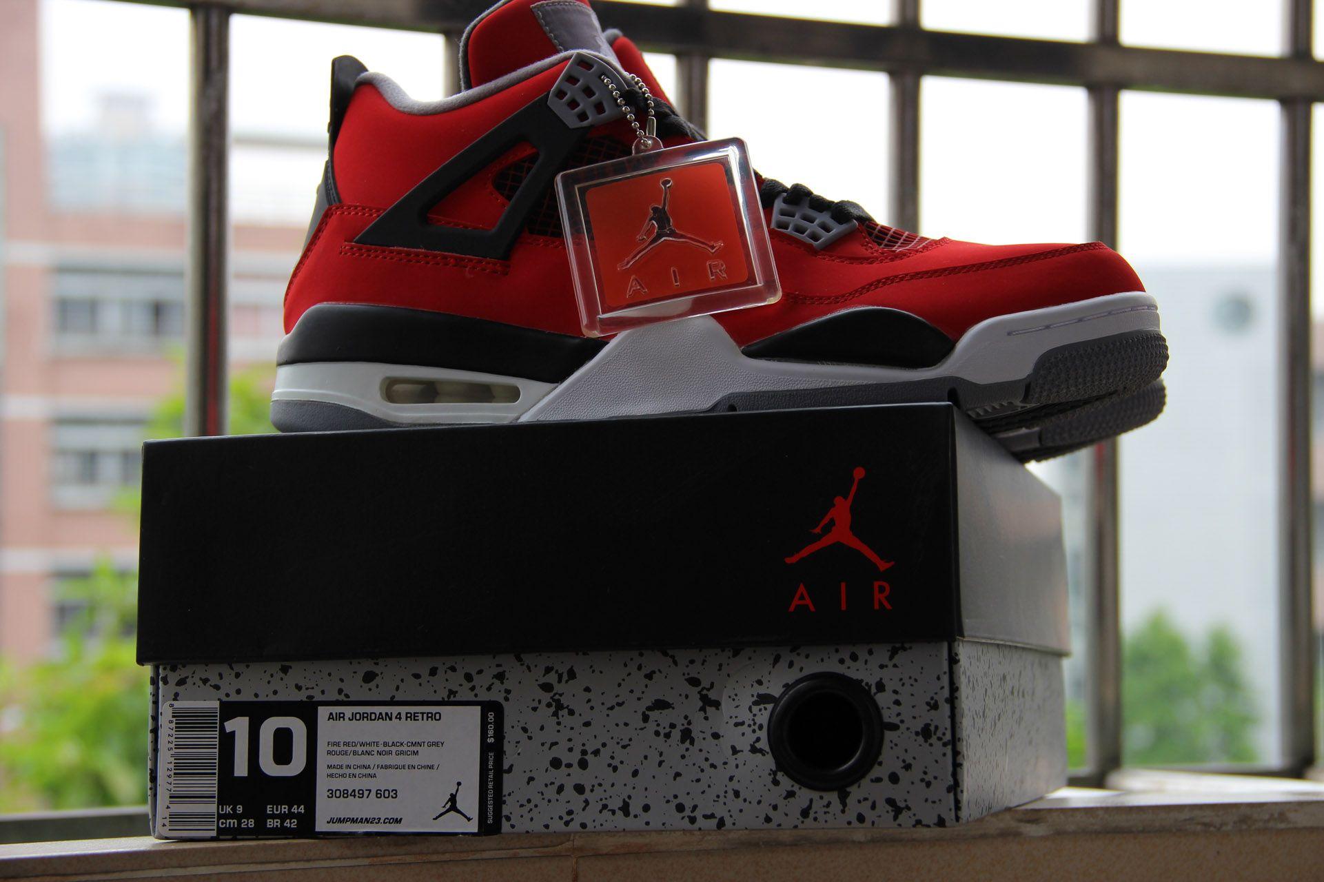 online store 4aad1 1a92e Air Jordan 4 Retro Fire Red Toro Bravo, 308497-603 | Air ...