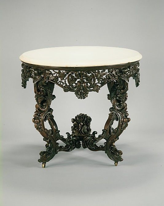 Console Table Attributed To John H Belter 1804 1863 Date Ca 1855 Geography Mid Atlantic New York City Victorian Furniture Decor Beautiful Furniture