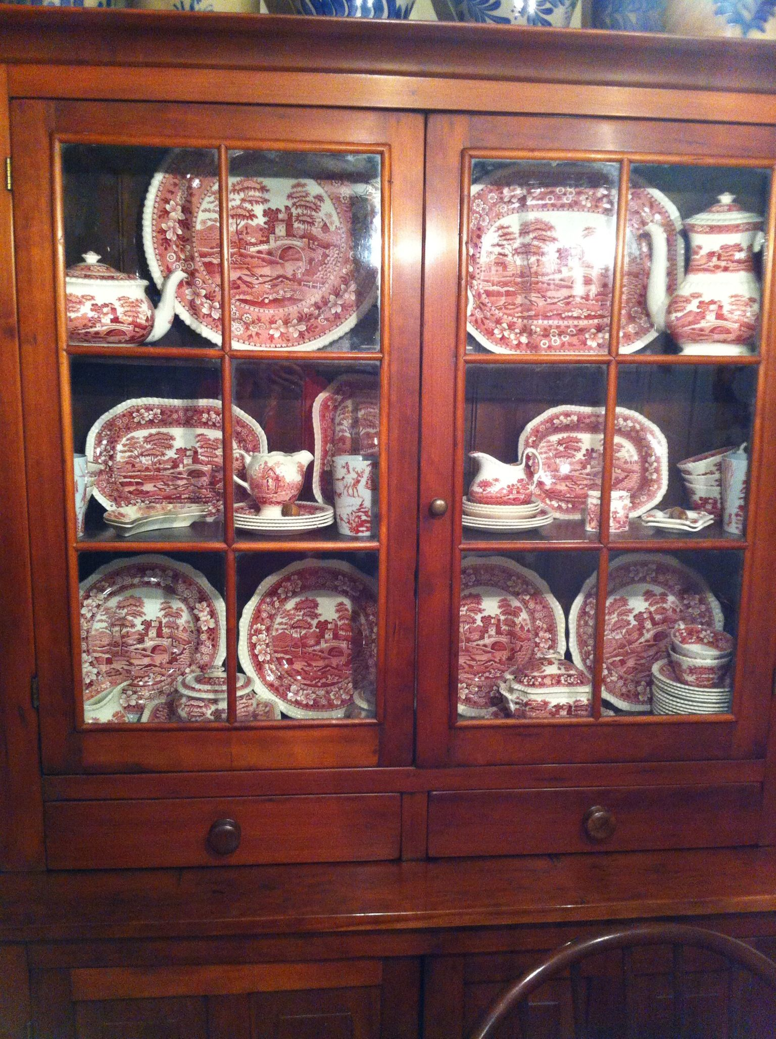 Blue Green China Cabinet