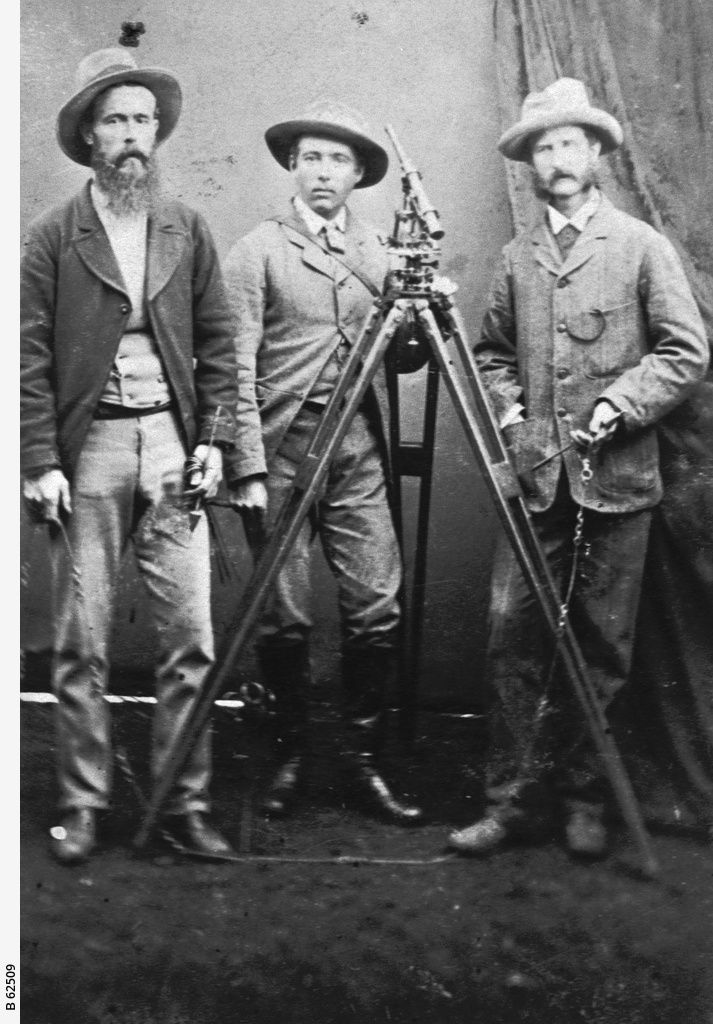 GENERAL: Three surveyors with their theodolite; one man is possibly called Henry Jacob