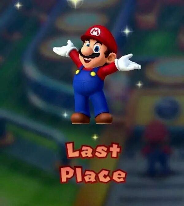 Last place Mario meme Best Memes, Dankest Memes, Funny Memes, Jokes, Mario Party, My Demons, Meme Lord, Me Too Meme, It Goes On