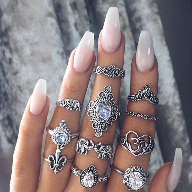 nail #NailJewels | Nail Jewels | Pinterest | Aquarium nails, Nail ...