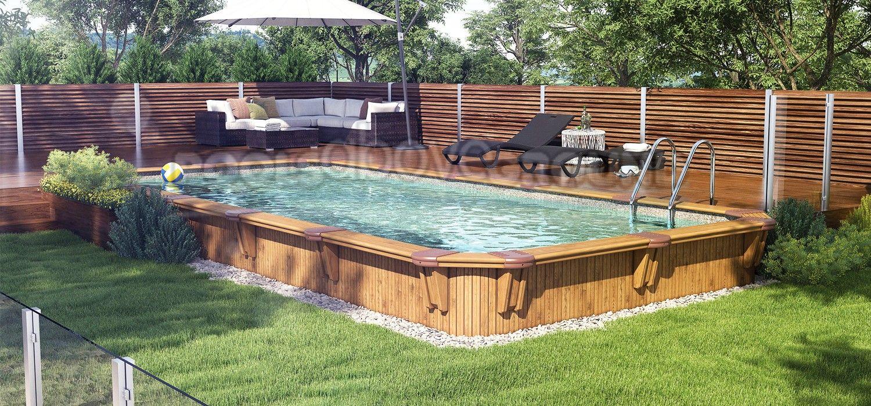 16 X28 Rectangle 52 Deep Somoa Pool Semi Inground Pools