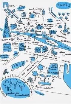 super sketchy but monotone paris map