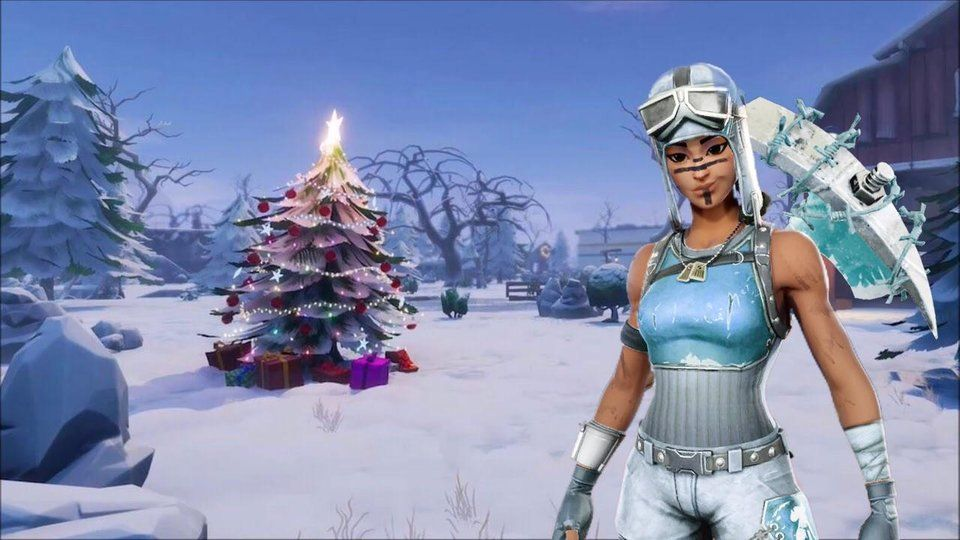 Epic Skill Fortnite Look Fortnite Fan Makes Amazing Frost Raider Concept Skin Fortnite Fans Are A Creative Bunch And Another Has Shown Their Skill Fortnite Raiders Winter Season