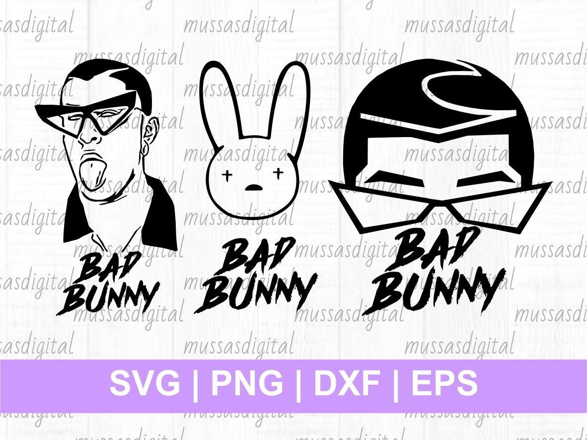 Bad Bunny SVG Vectorency in 2020 Bunny svg, Svg, Logo