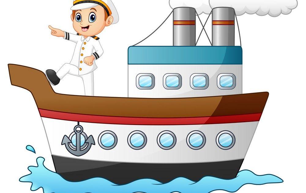 Cartoon Ship Captain Pointing On A Ship Royalty Free Vector Cartoon Boat Cartoon Ship Design Psd Download Premium Psd Boat Cartoon Cartoon Ships Ship Drawing