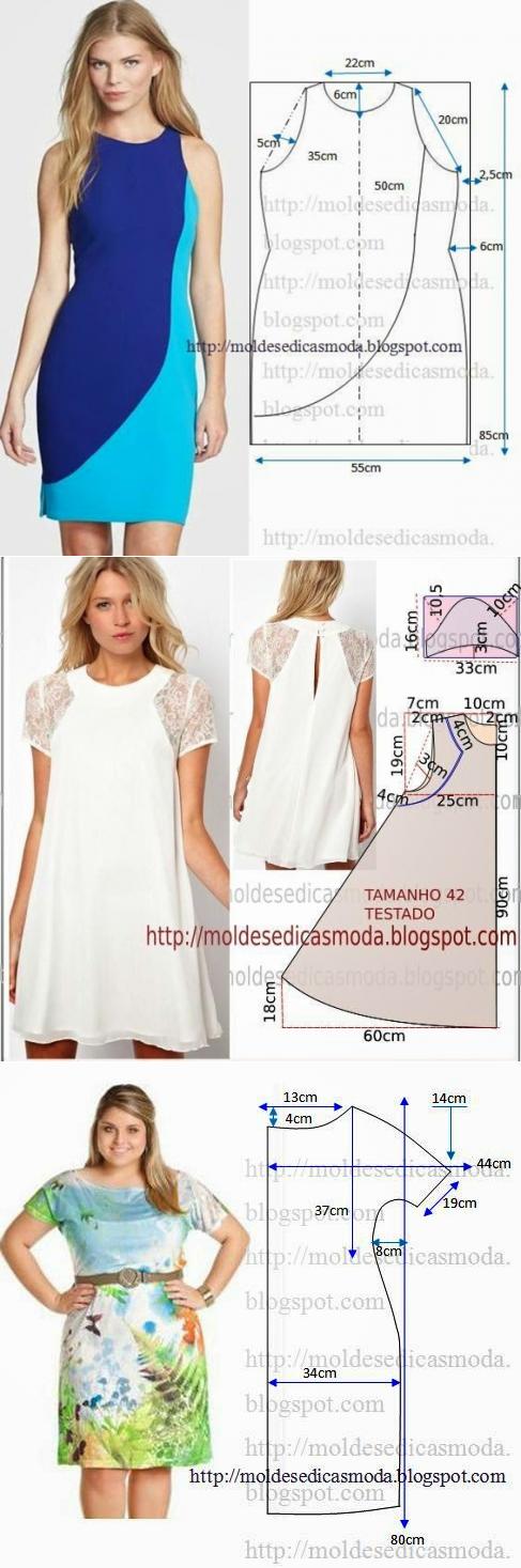 Шитьё   vestido dama   Pinterest   Patrones simples, Los vestidos y ...