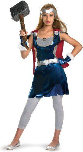 Thor Movie â\u20ac\u201c Thor Girl Tween Costume Size X-Large (14/16) Real - halloween costume ideas for tweens