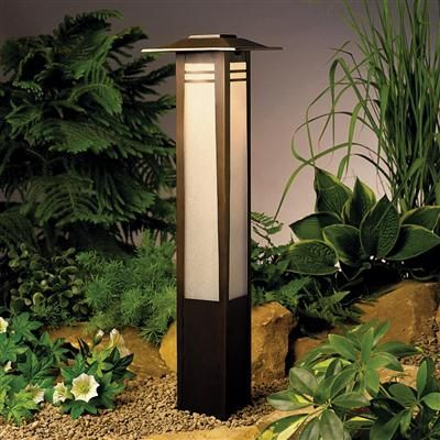 Bollard 1 Lt 12v 15392oz Elite Fixtures Solar Lights Garden Zen Garden Kichler Outdoor Lighting