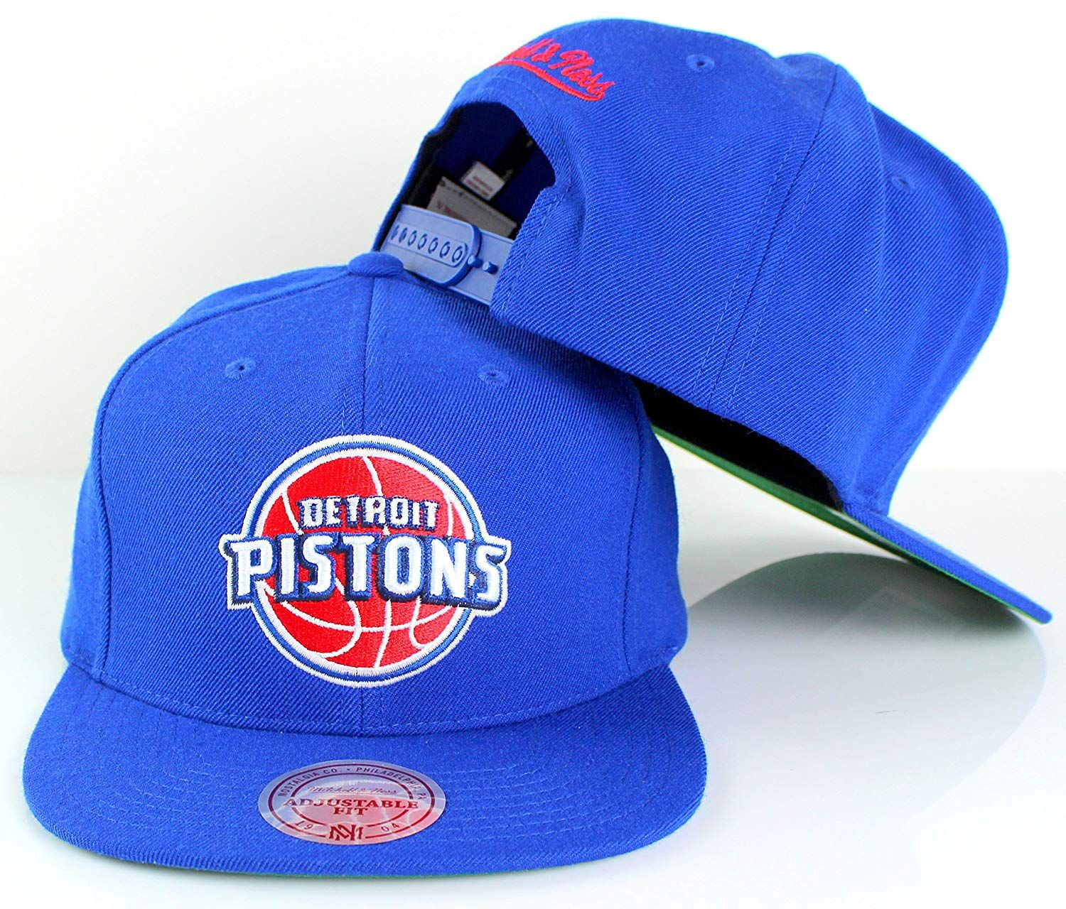 cheap for discount 199fa 245e5 Mitchell   Ness Detroit Pistons NBA Team Logo Solid Wool Adjustable Snapback  Hat,  39.99