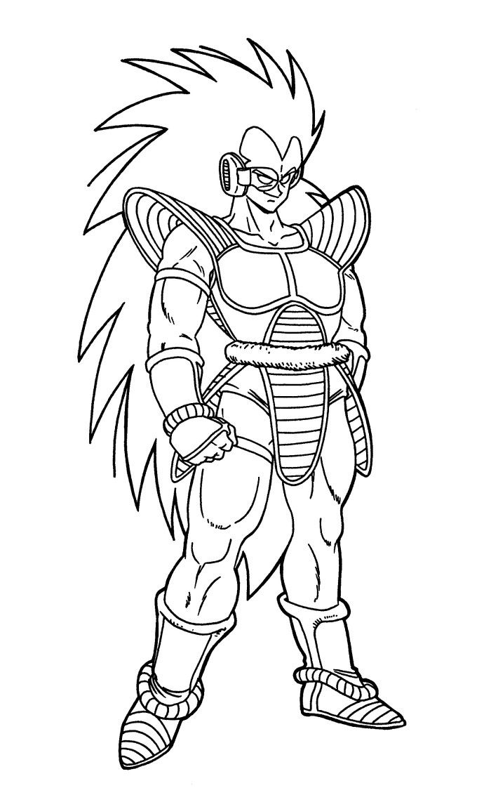 Raditz Dragon Ball Coloring Pages