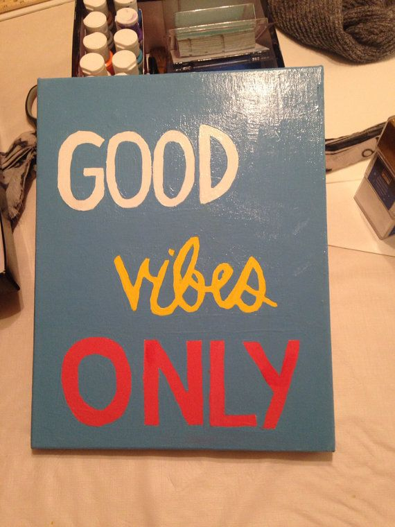 Good vibes only handpainted wall art  on Etsy, $20.00  #babydollarts