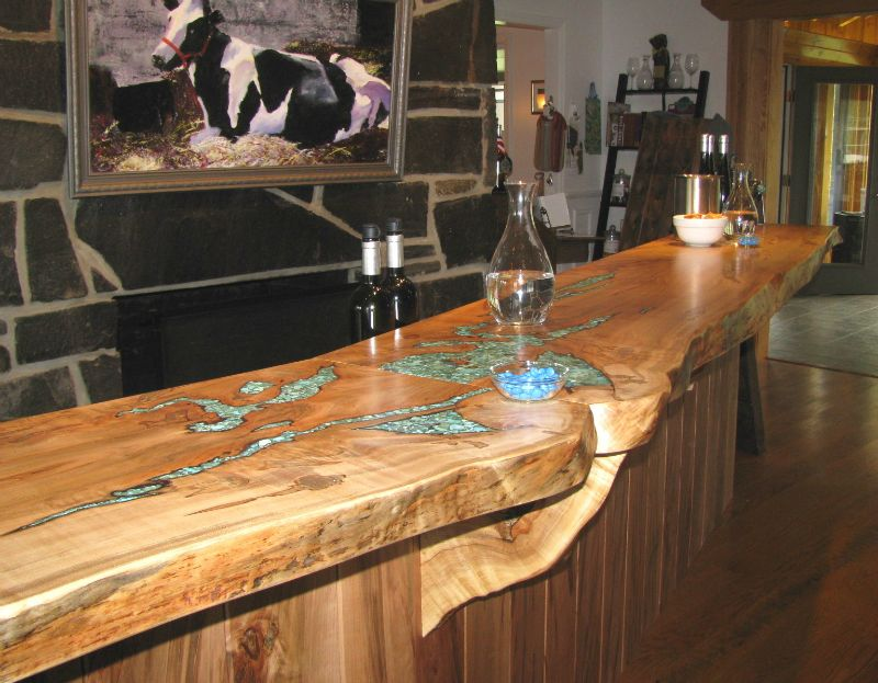 44 Reclaimed Wood Rustic Countertop Ideas Inlay Rustic