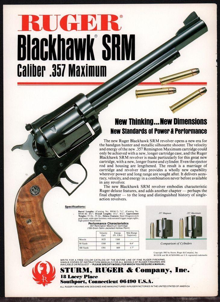 Details about 1962 Print Ad of Ruger Blackhawk  44 Magnum