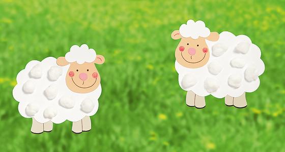 Echt Schaf: Fensterbilder für kleine Hände | Schäfchen ...