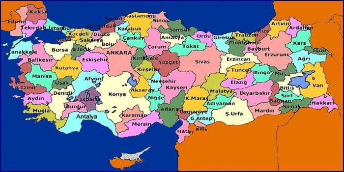Turkiye Haritasi Sehir Haritalar Egitim Tarihi