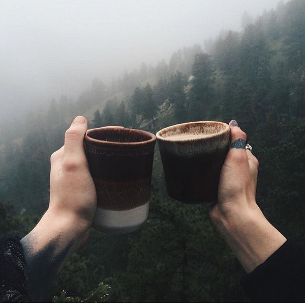Coffee in mountains