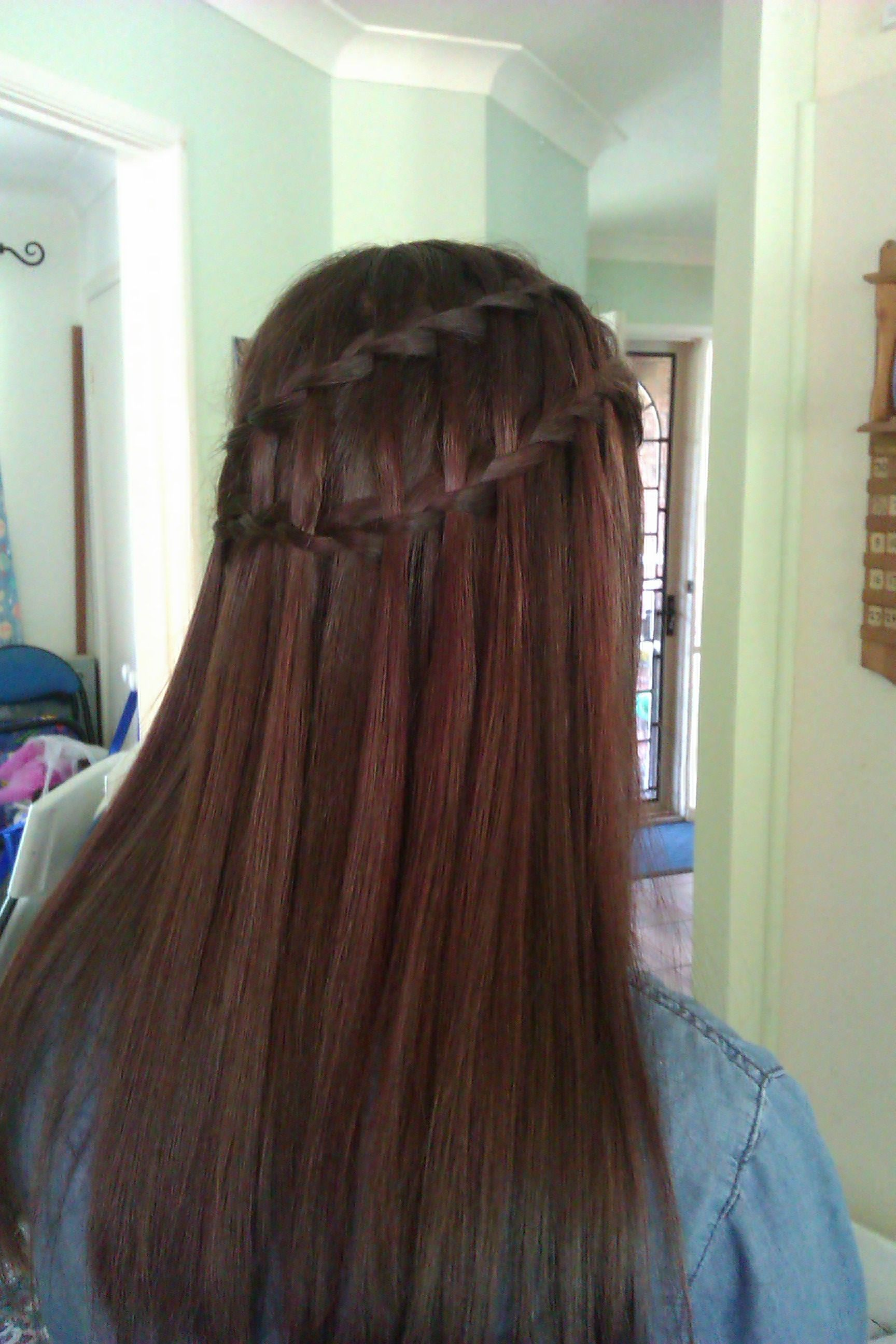 Waterfall braid beautiful for formals and weddings hair