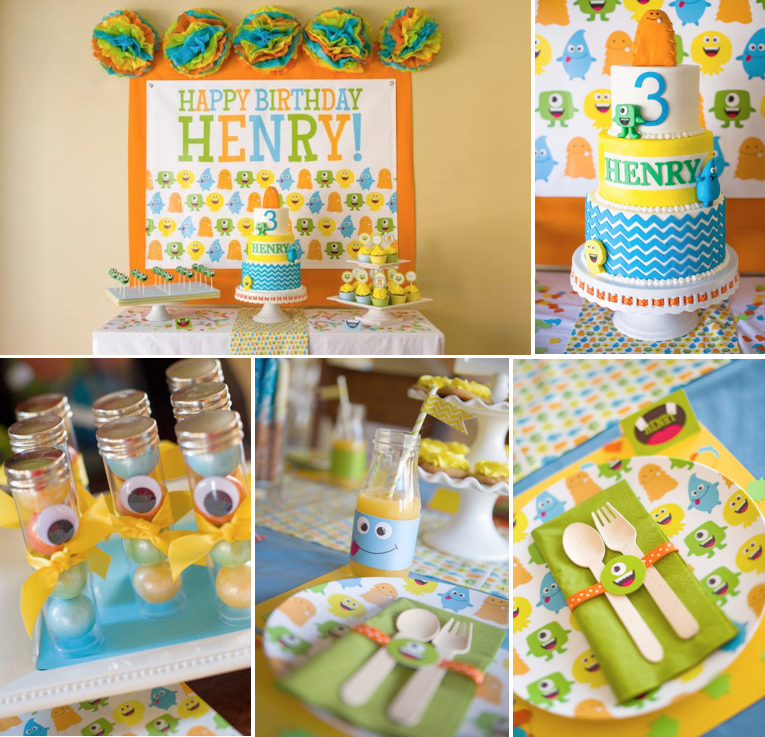 Little Monster Birthday Party Kara S Party Ideas The Place For All Things Party Monster Birthday Parties Monster Birthday Little Man Party