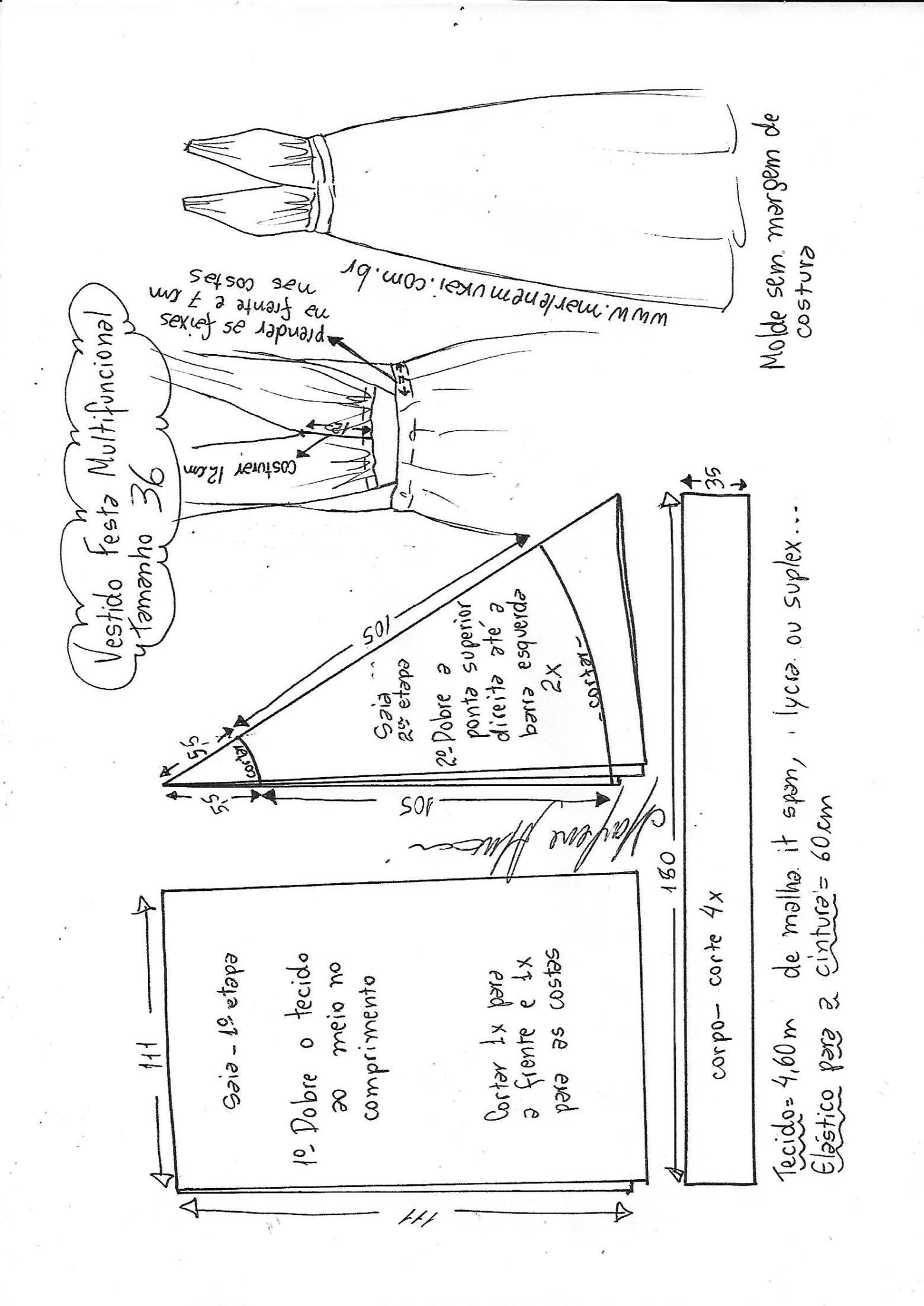 Vestido festa multifuncional | PATRONES COSTURA | Sewing, Sewing ...