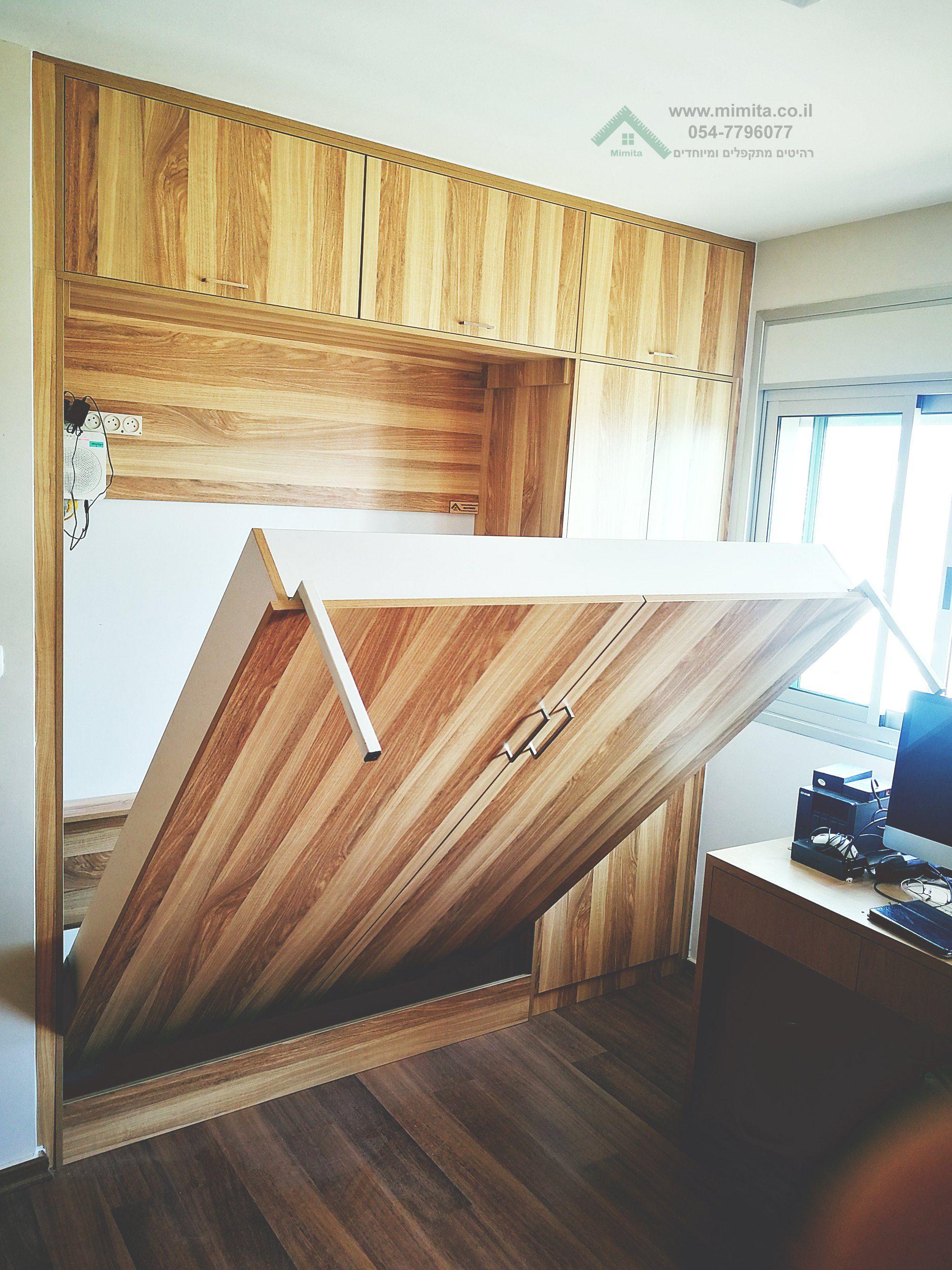 מיטה נסתרת מתקפלת לארון קיר תמונה באתר ייצור חנות ותצוגה