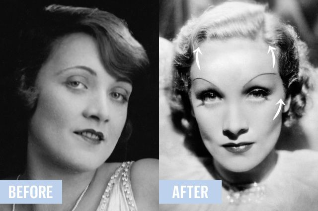 Four Weird Ways Old Hollywood Stars Changed Their Faces Without Plastic Surgery Plastic Surgery Old Hollywood Dramatic Eyeliner