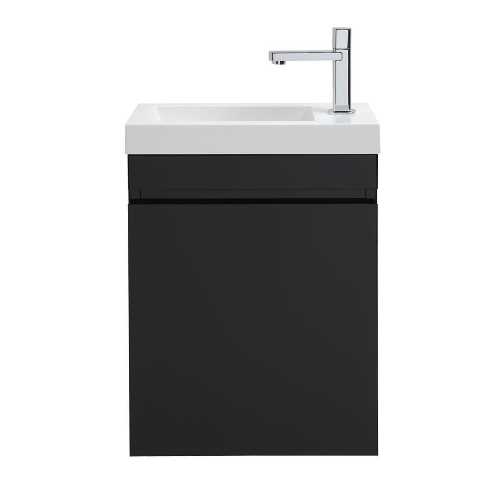 Meuble lave-mains noir ELBA | Wc | Pinterest | House