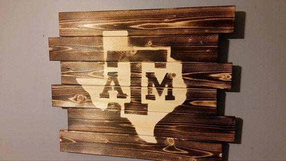 Texas A M University Aggies Wall Art Texas Decor College Decor Townhome Decorating