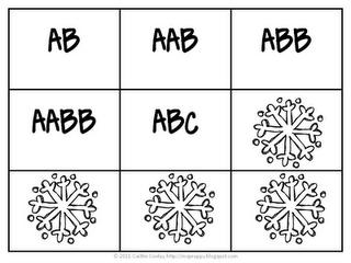 Snowflake Patterns Math Patterns Winter Classroom Activities Classroom Freebies
