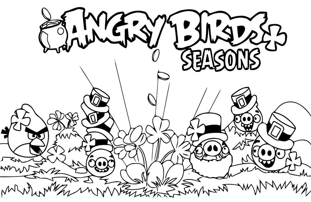 Angry Birds Seasons Coloring Pages Wallpaper