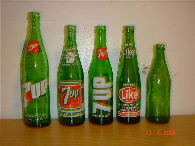 vintage 7up bottles value