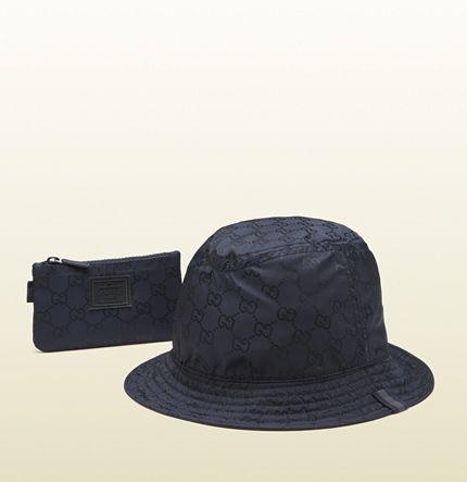 c804f167 Gucci - men's black gg nylon hat from viaggio collection ...